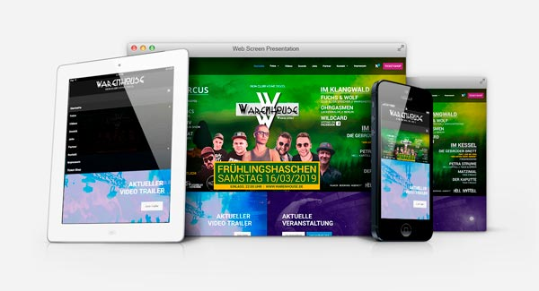 Club Warenhouse Wiepersdorf - Webdesign