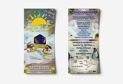 Event-Marketing | Flyer DIN Lang - End of Summer 2015