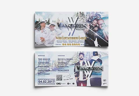 Event-Marketing | Flyer DIN Lang - Warenhouse Wiepersdorf 2017