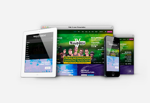 Event-Marketing | Webdesign Club Webseite - Warenhouse Wiepersdorf